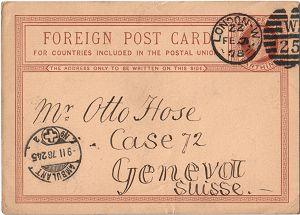 GB Overseas Surface Postcard Rates 1875-1981